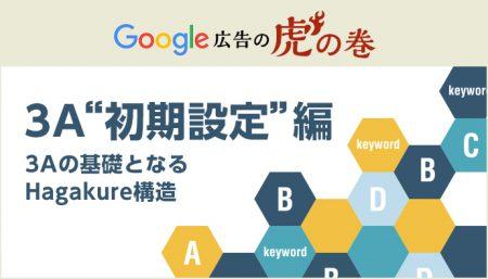 """Google広告の虎の巻【3A""""初期設定""""編】"""